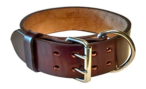 Pitbull & Large Breeds Leather Dog Collar - Free Personalization - Pet...