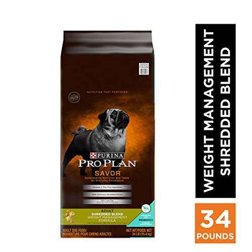 Purina Pro Plan Weight Management Dry Dog Food, SAVOR Shredded Blend...