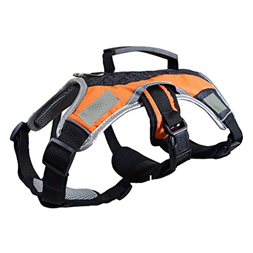 Dog Walking Lifting Carry Harness, Support Mesh Padded Vest,...