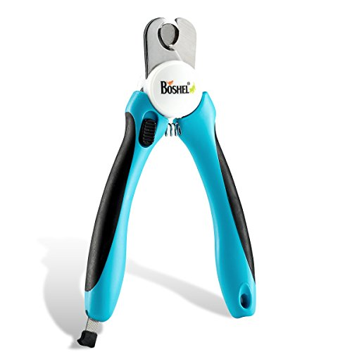 BOSHEL Dog Nail Clippers and Trimmer with Safety Guard to Avoid...