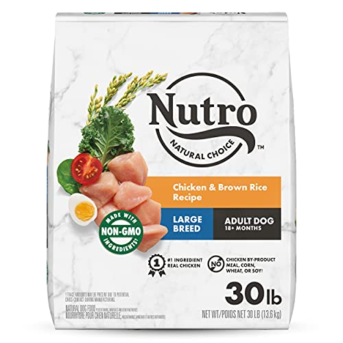 NUTRO NATURAL CHOICE Large Breed Adult Dry Dog Food, Chicken & Brown...