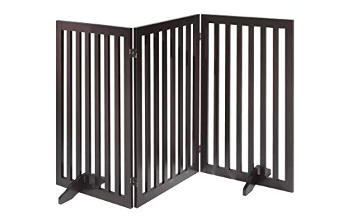 Total Win Freestanding Pet Gate for Dogs with 2PCS Support Feet,...