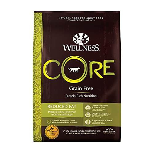 Wellness CORE Natural Grain Free Dry Dog Food, Reduced Fat, 12-Pound...