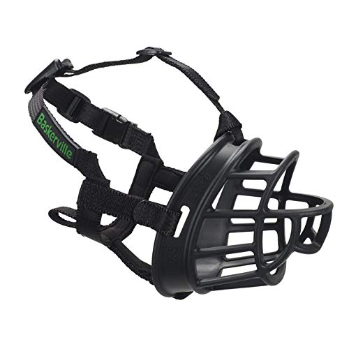 Baskerville Ultra Muzzle, dog muzzle to prevent biting and chewing,...