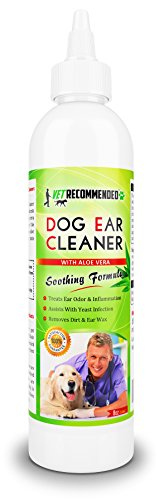 Vet Recommended Dog Ear Cleanser with Natural Aloe Vera for Dog Ear...