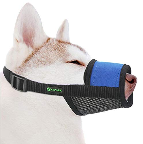 Soft Dog Muzzle with Hook & Loop for Small, Medium and Large...