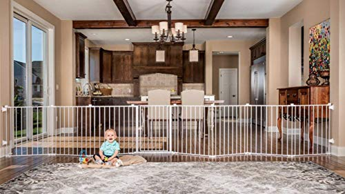 Regalo 192-Inch Super Wide Adjustable Baby Gate and Play Yard, 4-In-1,...