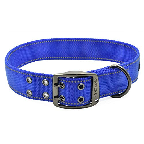 Max and Neo MAX Reflective Metal Buckle Dog Collar - We Donate a...