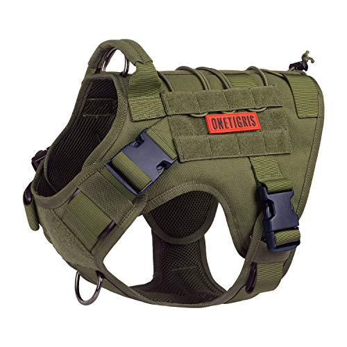 Tactical Dog Harness, Full Body Dog Harness with Handle Heavy Duty Dog...
