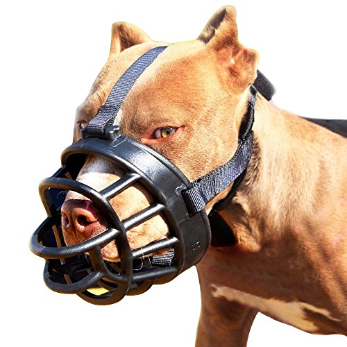 Dog Muzzle,Soft Basket Muzzle for Dogs,Adjustable and Comfortable...