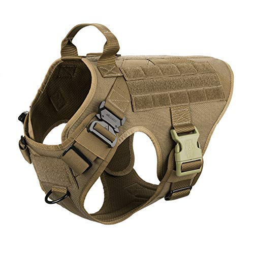 ICEFANG Large Dog Tactical Harness,Military K9 Working Dog Molle...
