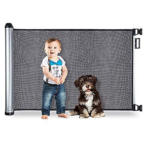 BABYSEATER Baby Gates for Doorways or Stairs - Retractable Safety Gate...
