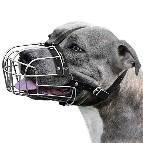 BRONZEDOG Dog Muzzle Pitbull Metal Mask Amstaff Wire Basket Pit Bull...