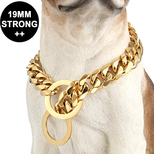 W&W Lifetime Custom Ultra Strong 19MM 14K Gold Plated Slip Chain Dog...