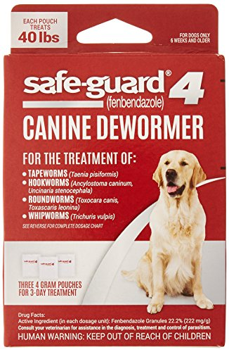 8in1 Safe-Guard Canine Dewormer for Large Dogs, 3 Day Treatment...