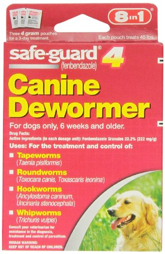 Excel 8in1 Safe-Guard Canine Dewormer for Large Dogs, 3 Day Treatment,...