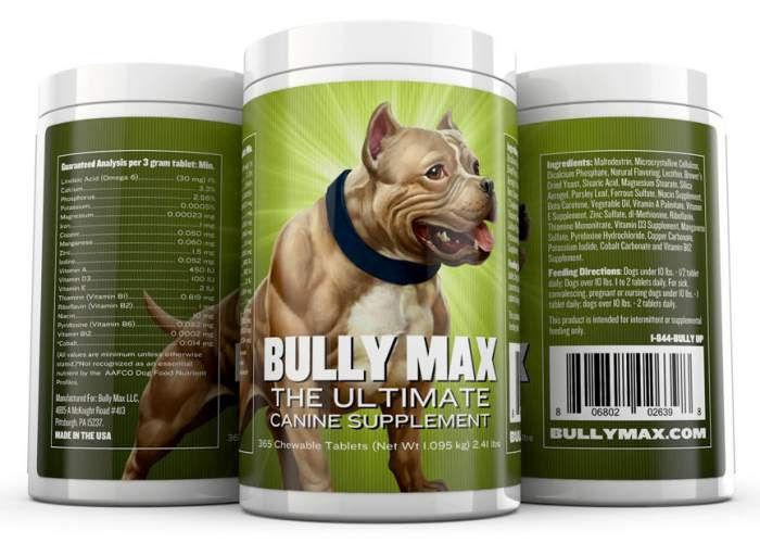 Bully Max No. 1 Top Rated Supplements for Dogs