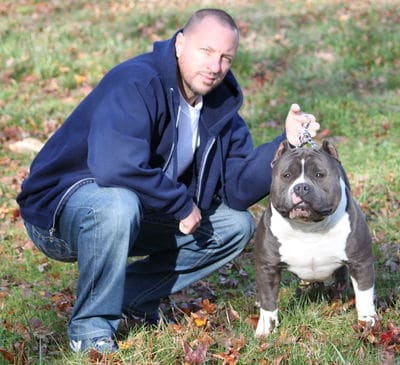 Dave Wilson and Pit Bull Dog